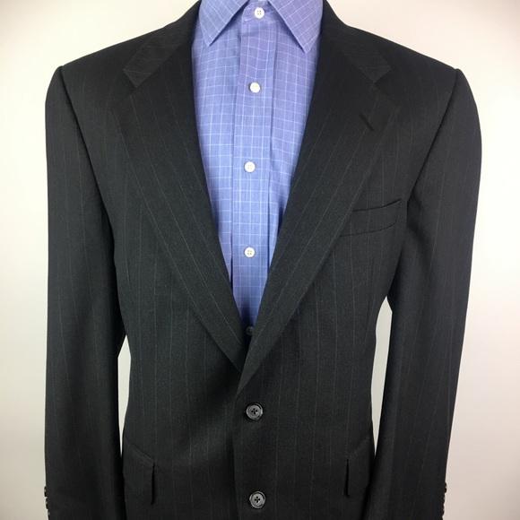 Burberry Other - BURBERRYS' Mens VTG 44R Wool Blazer Gray 2-Button